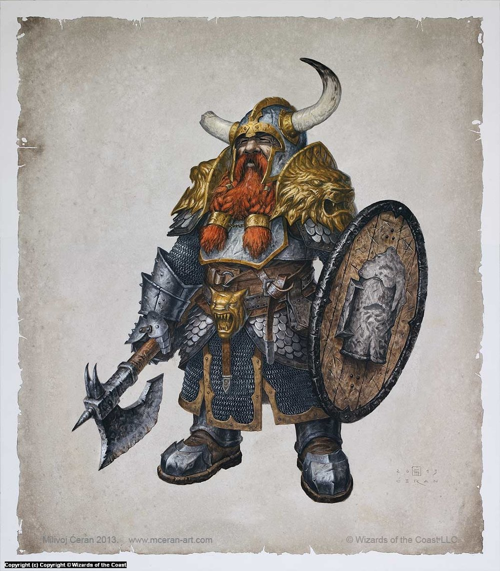 Bruenor Battlehammer by Milivok Ceran, 5th Edition D&D