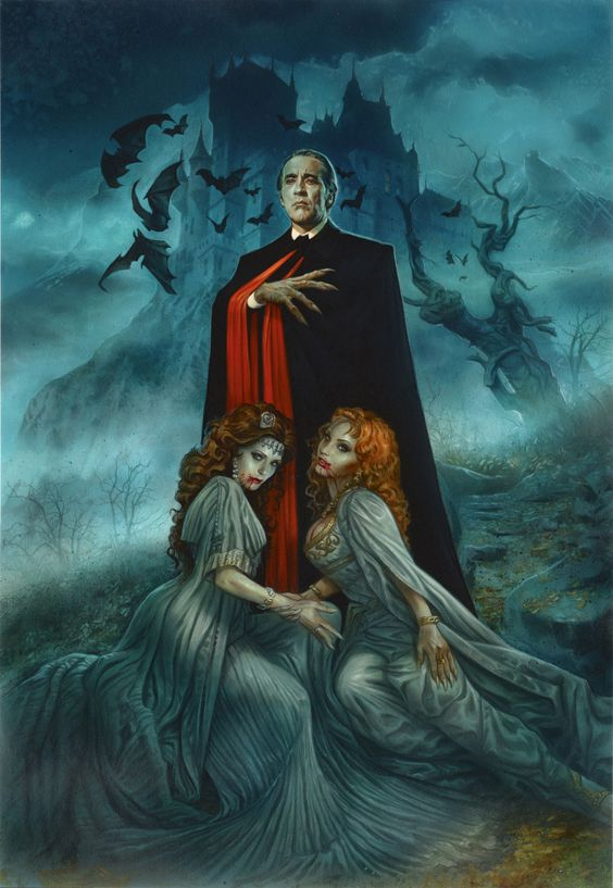 Christopher Lee / Hammer Dracula Private original art commission of Christopher Lee as Dracula Greg Staples