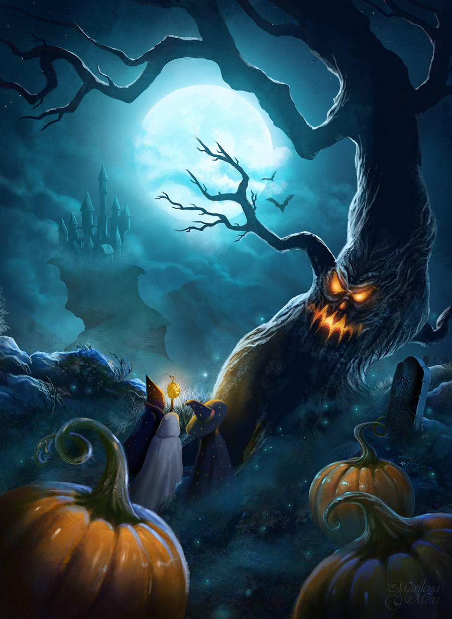 Halloween Night by Marilena Mexi