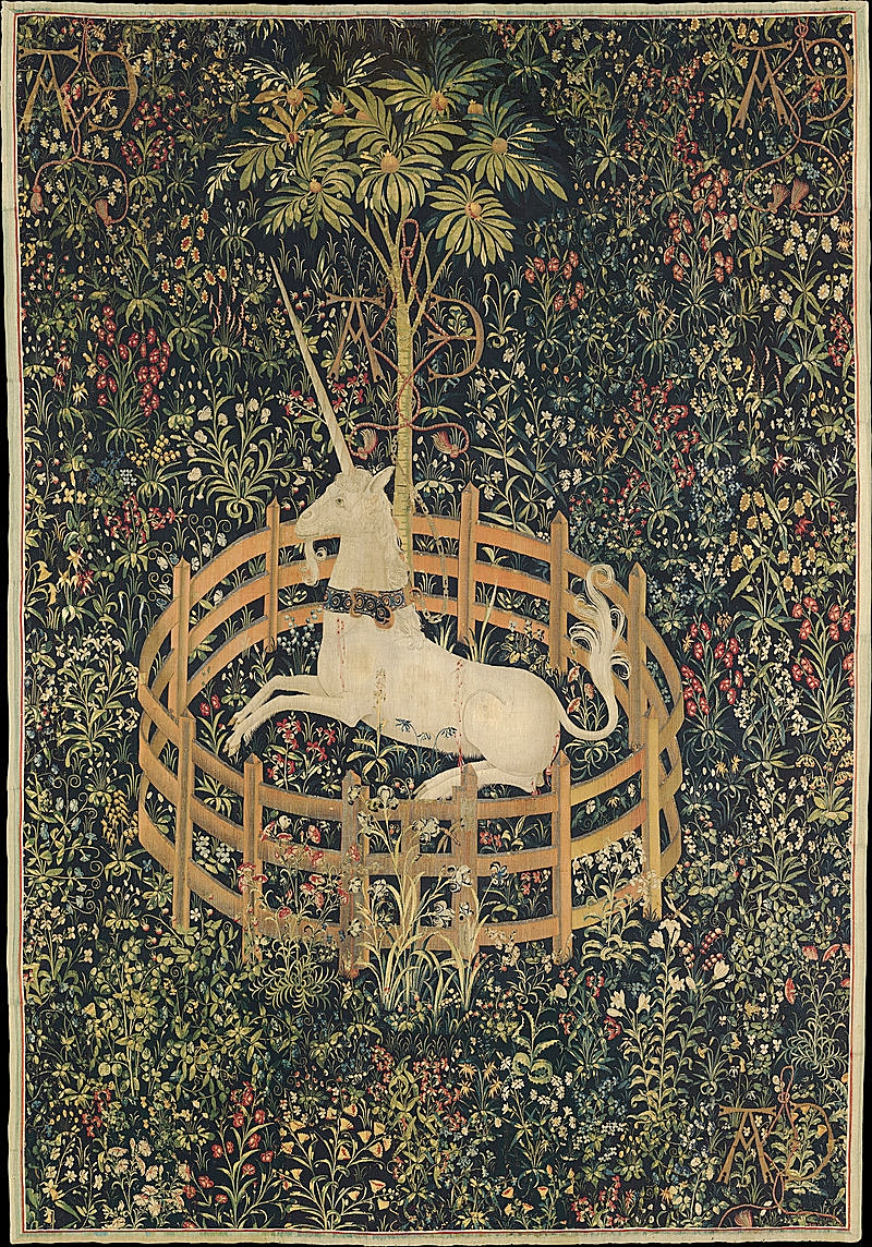 """The Unicorn is in Captivity and No Longer Dead"", art source  here"
