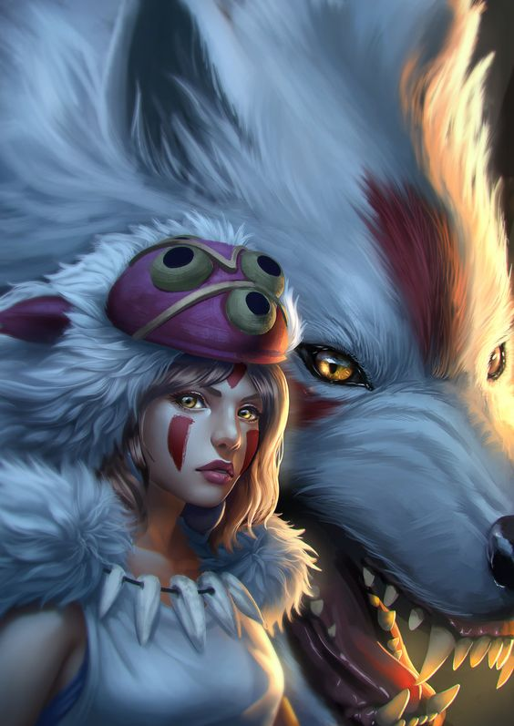 Princess Μononoke by Zamberz on DeviantArt
