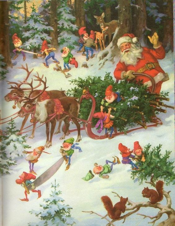 1958 Jolly Old Santa Claus Softcover Book
