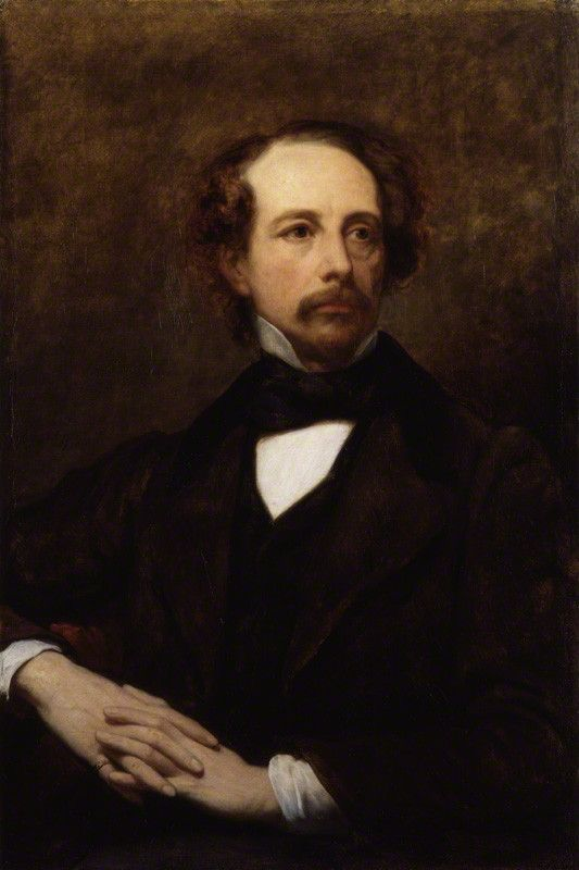 Dickens painted by Ary Scheffer, 1855.