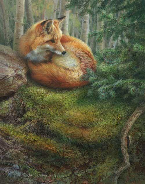 Art- Red Fox - by Joni Johnson-Godsy