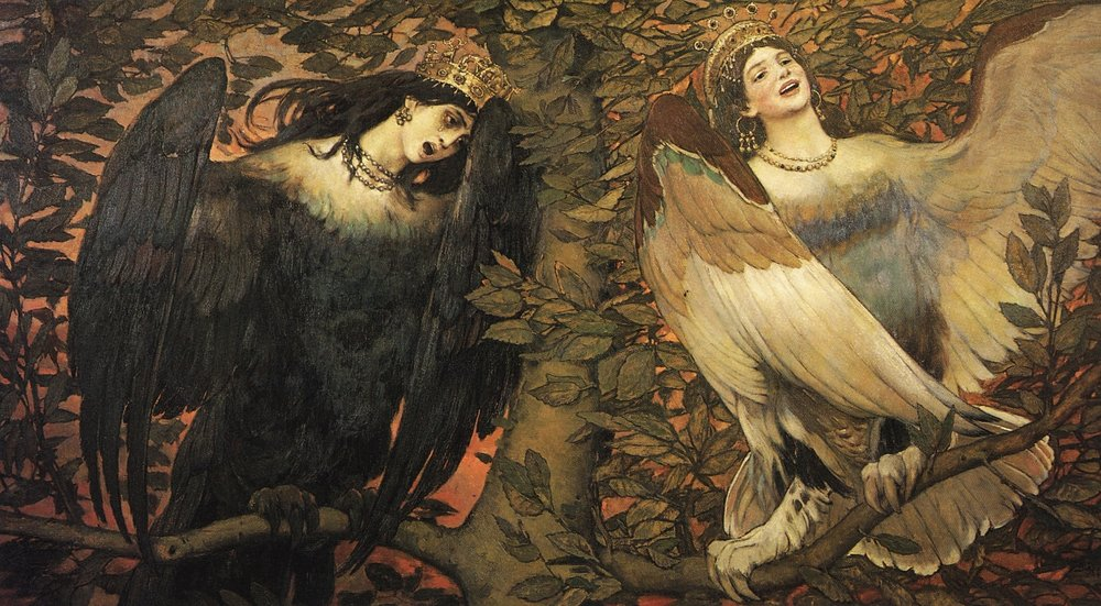 Sirin and Alkonost The Birds of Joy and Sorrow, 1896 - Viktor Vasnetsov