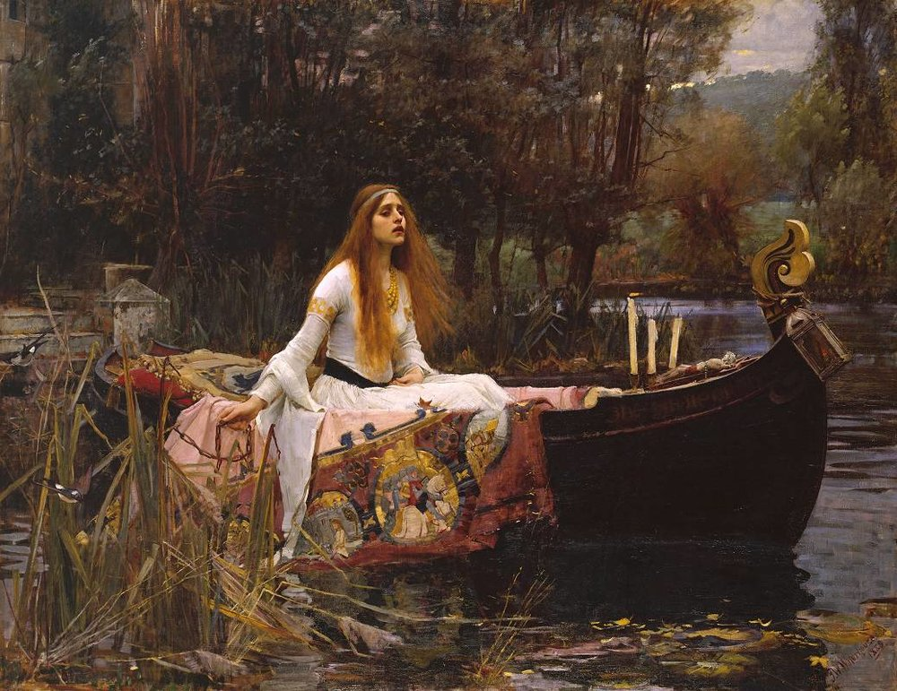 Lady of Shalott  by Edward Robert Hughes