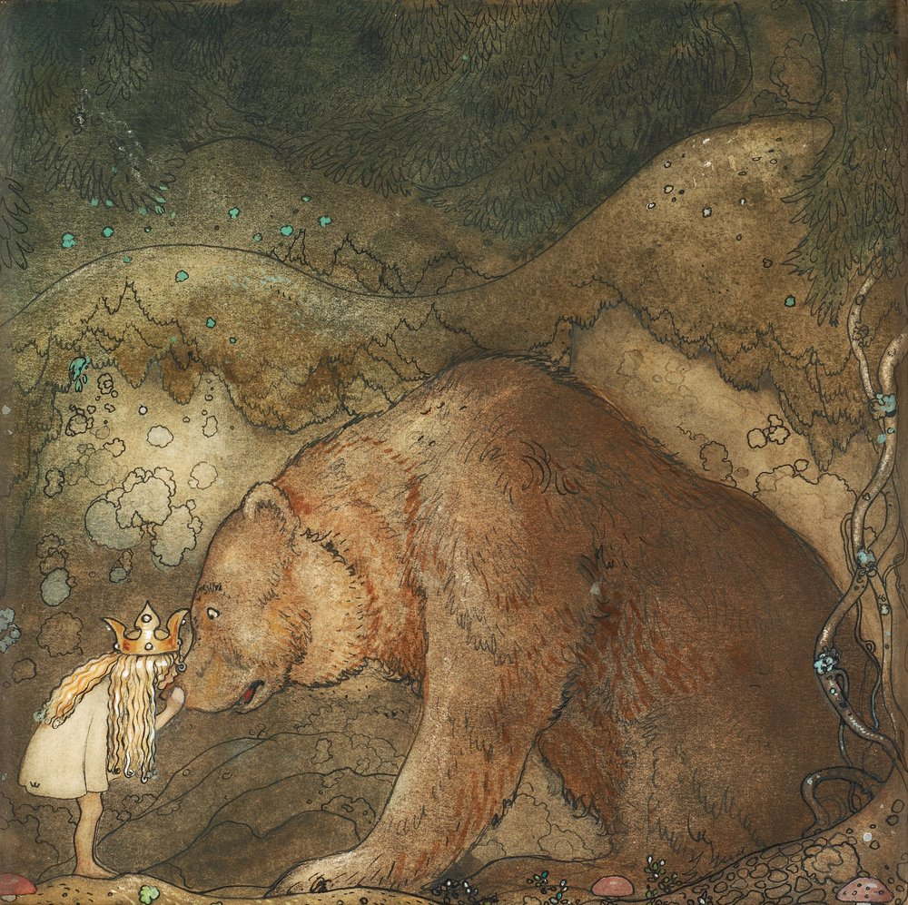Poor Little Bear Painting by John Bauer