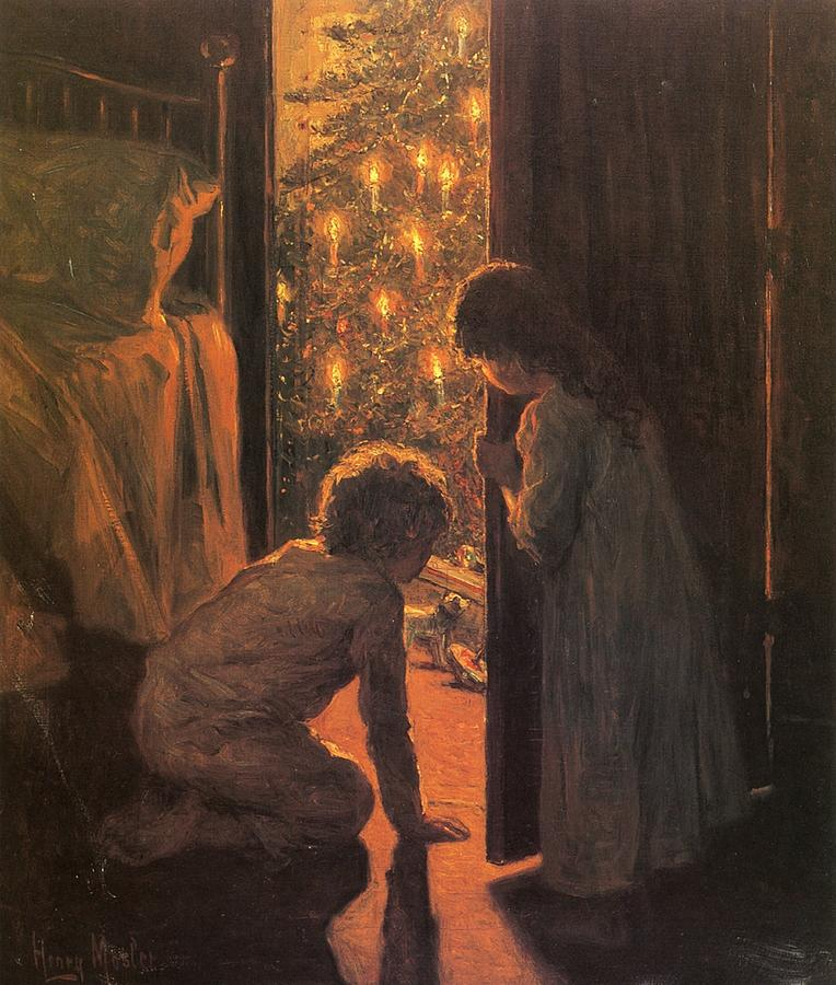 The Christmas Tree painting by Henry Mosler