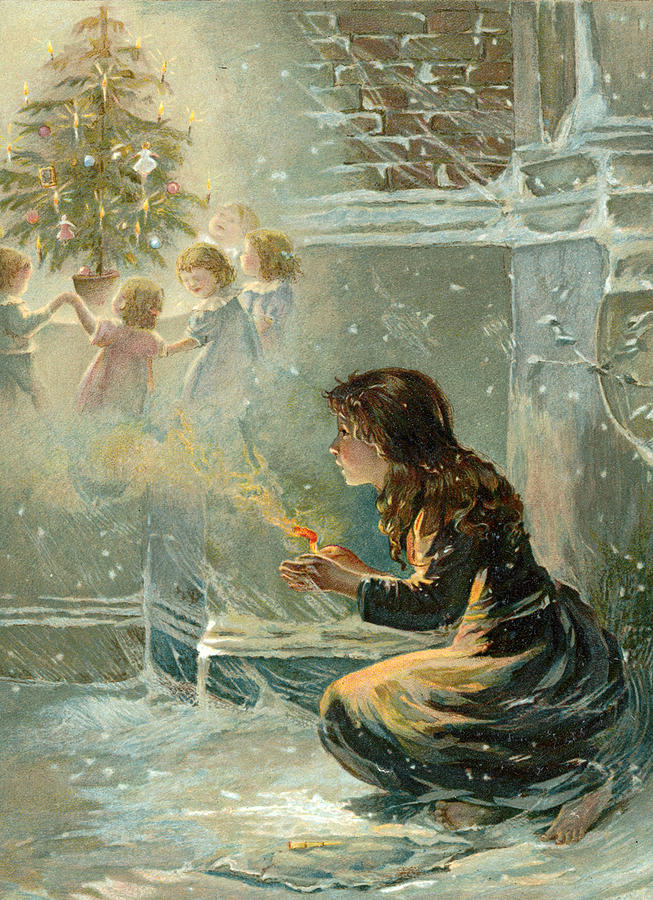 The Little Match Girl painting by English School