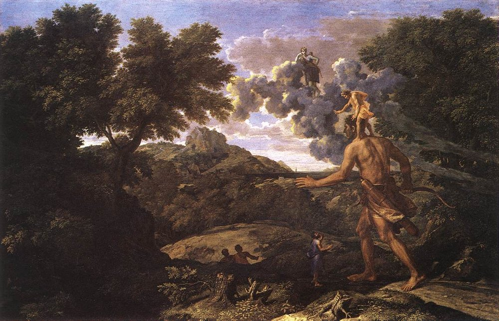 Landscape with Diana and Orion - Nicolas Poussin