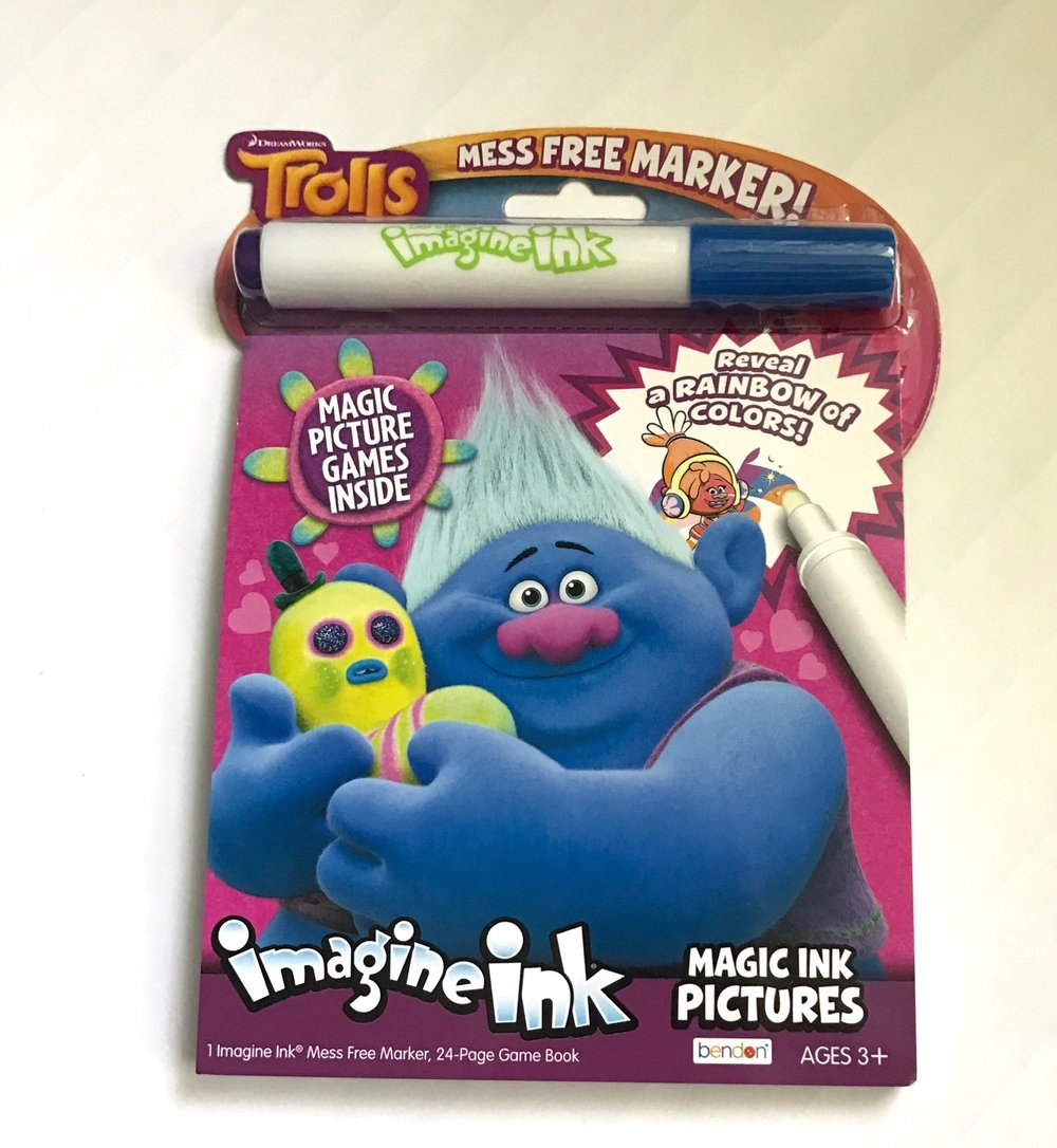 Magic Ink coloring book for a rainy day at the hotel while daddy works