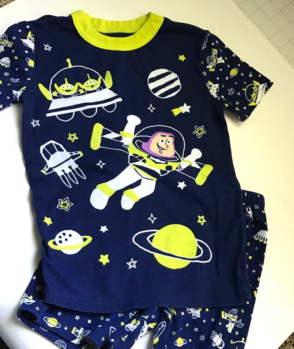 New glow in the dark pjs- got these at the Disney store for less than $10.