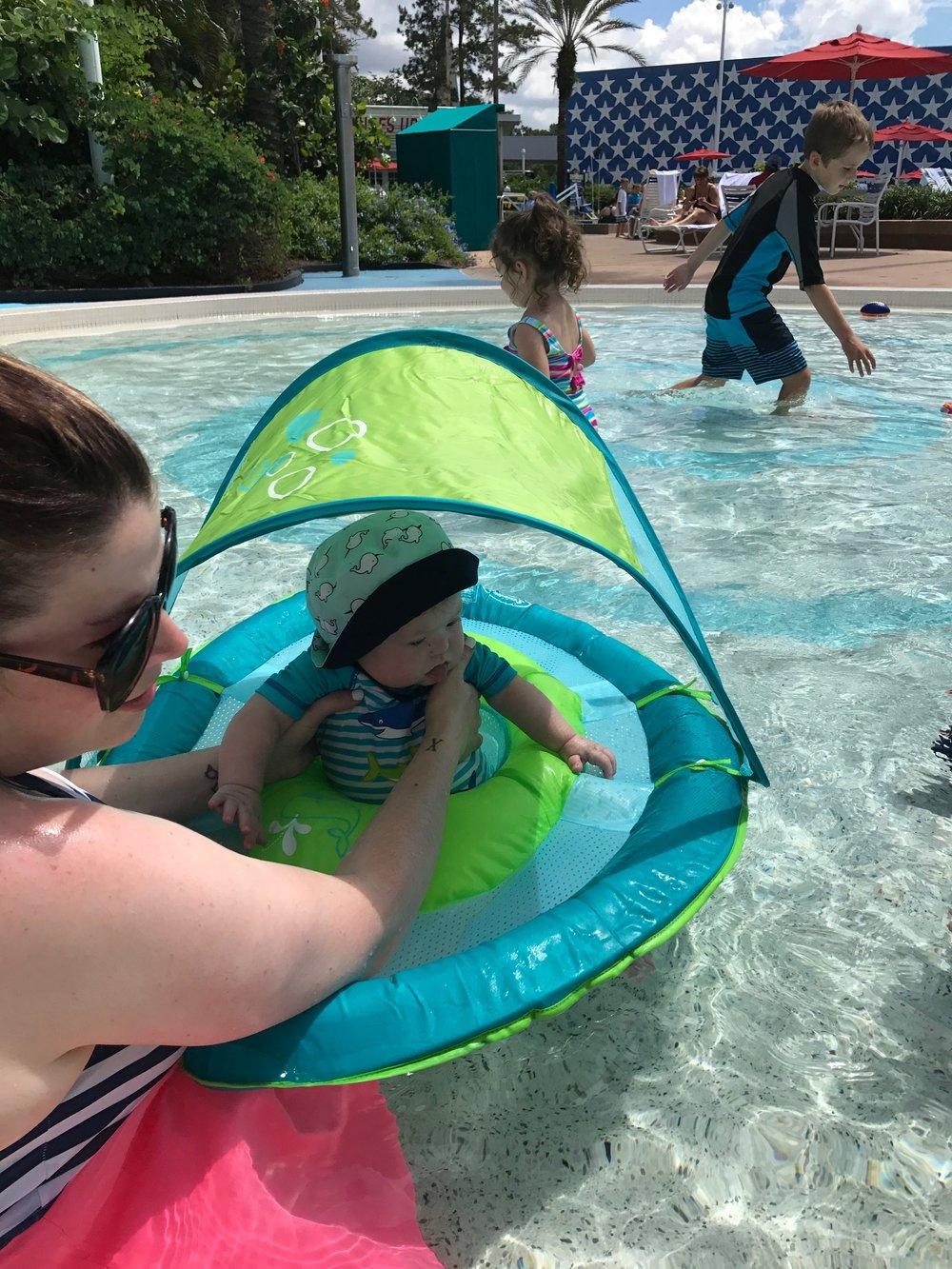 In the kiddie pool