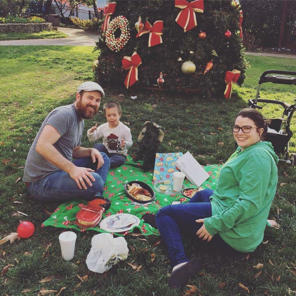 Christmas 2016- Waffle House in the CHOA garden