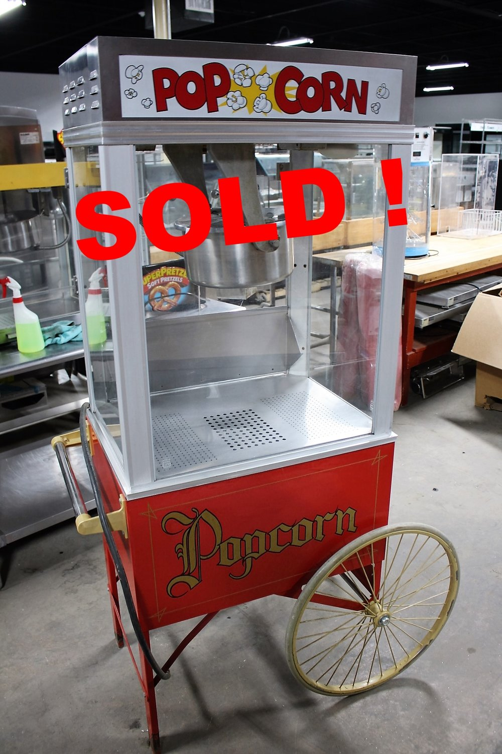 Gold Medal Pop Corn Machinew/Cart- $1325.00