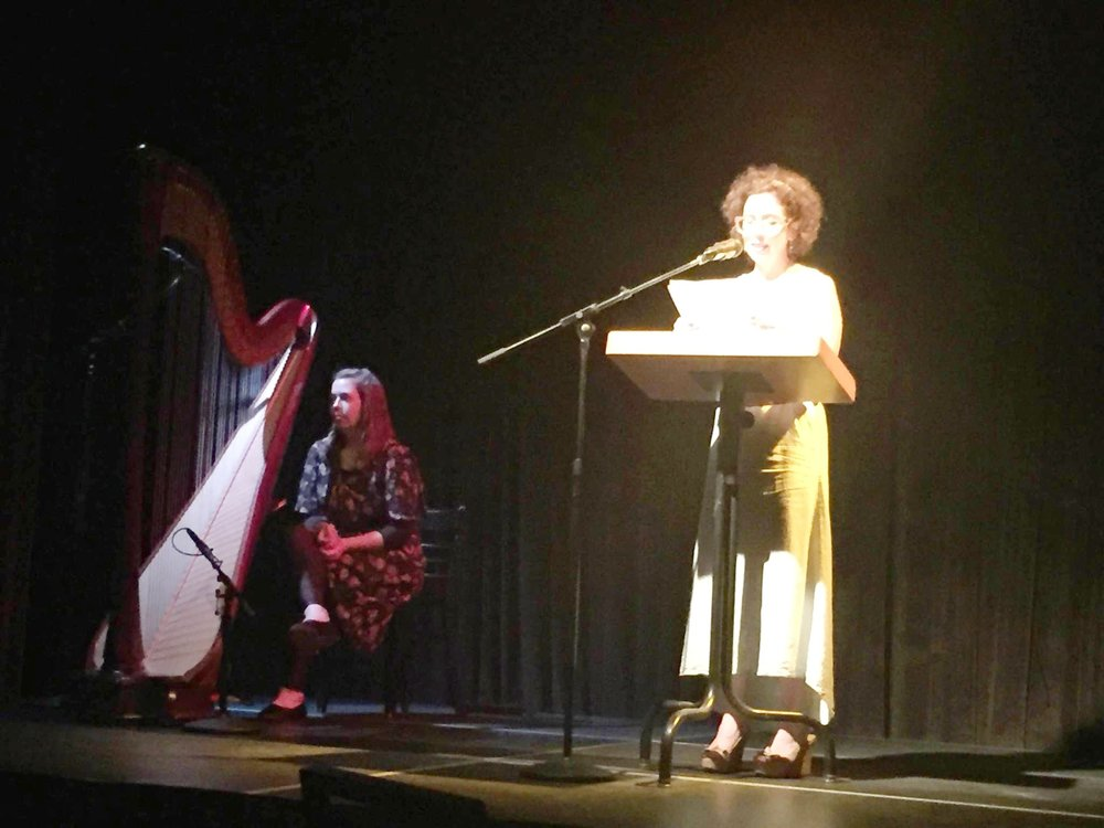 Jasmine Hogan, harp with Betsy Boyd, writer