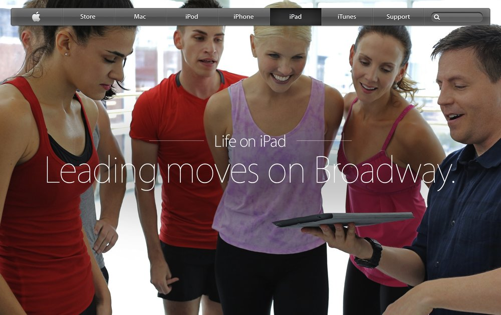 As seen on APPLE's homepage for iPad