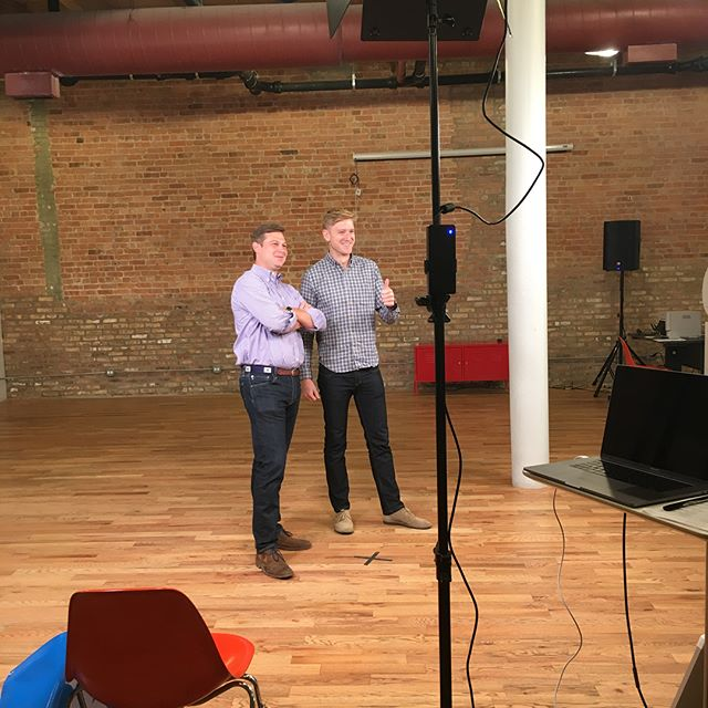 Behind the scenes look at the #50onFireChi photo shoot...we get real inventive with our poses 🙄. Thanks @chicagoinno! 🎥 📸 #BuoyUp . . . #50onfire #50onfireChi #AmericanInno #entrepreneur #startup #chicagobusiness