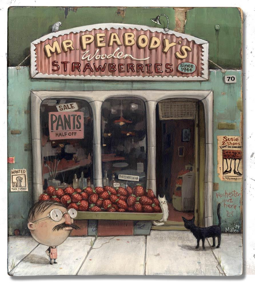 """Mr. Peabody's Wooden Strawberries"""
