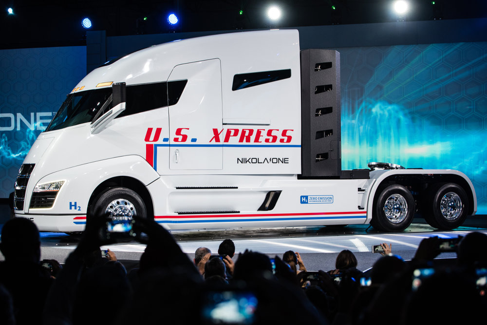 U.S. Xpress believes the Nikola Motor's Nikola One hydrogen-electric truck can stabilize volatile fuel prices and provide a fixed cost for its fleet.