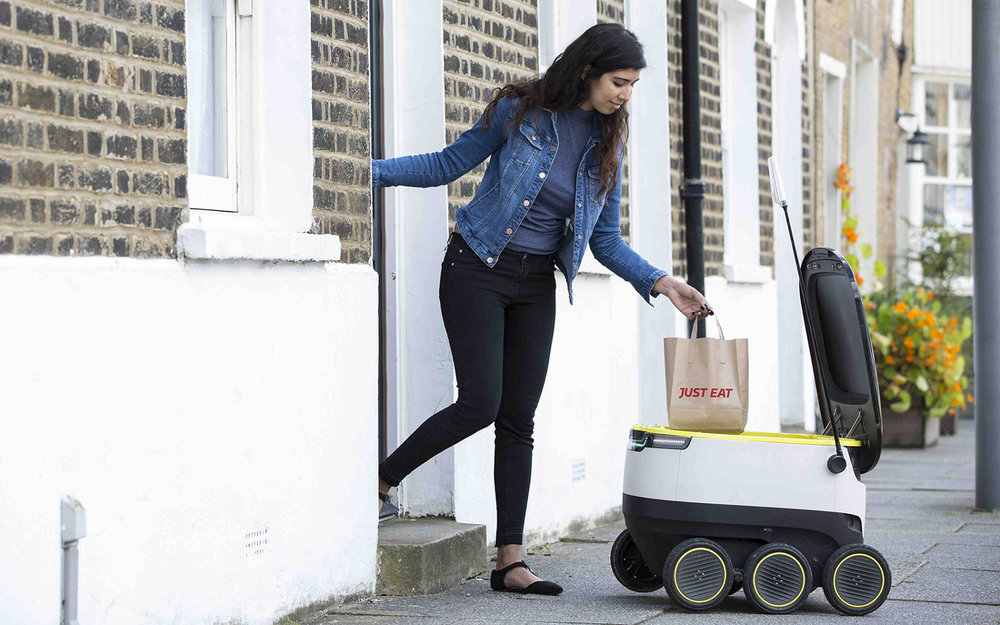 Several companies are working on robot delivery vehicles, such as this one from Starship Technologies. ( Photo: Startship Technologies )