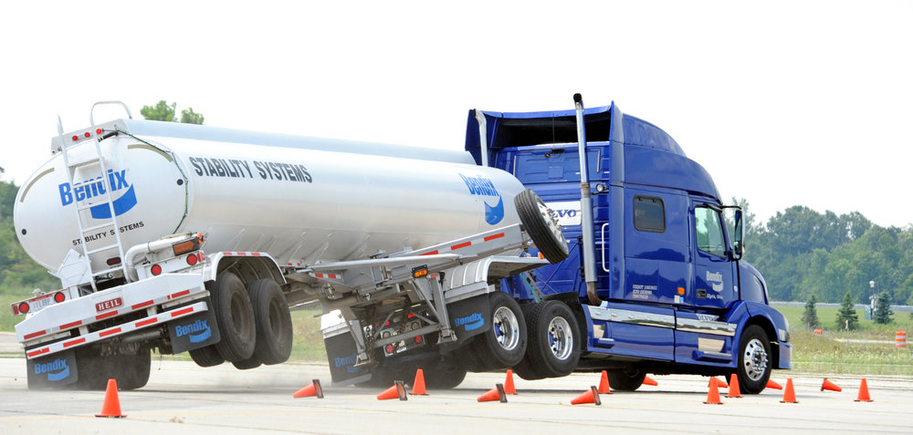 The introduction of full stability control systems on tractors this summer will help vehicles self-correct when a rollover or loss of control situation arises. (Photo: Bendix Commercial Vehicle Systems)