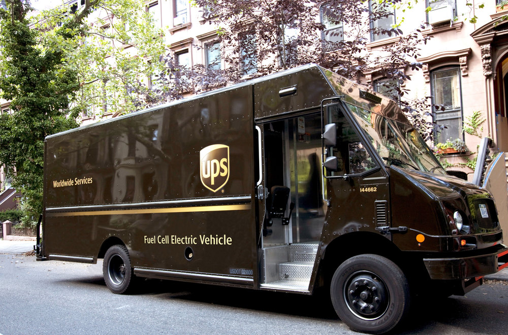 UPS says the fuel cell delivery truck has the same range as existing vehicles. (Photo: UPS)