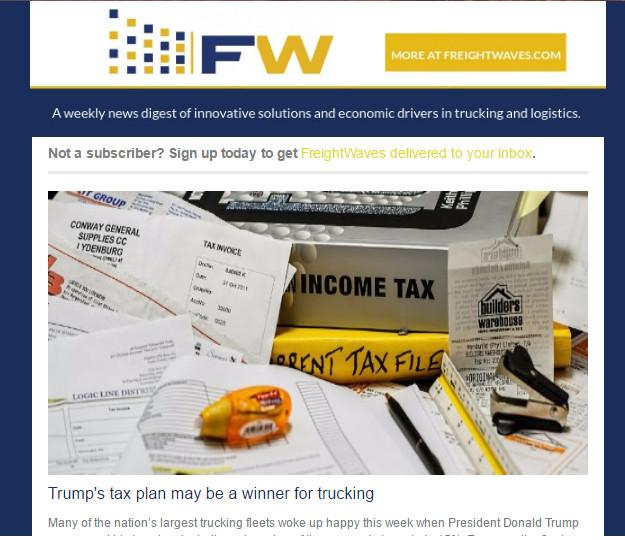 FreightWaves newsletter