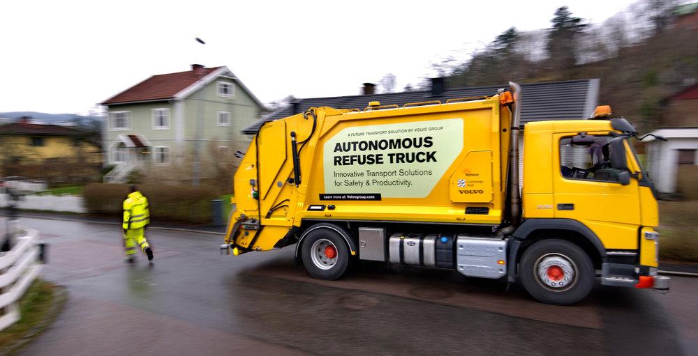 Volvo garbage truck