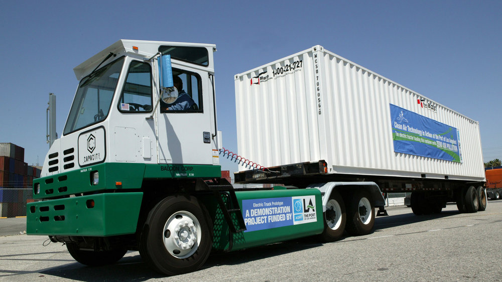 The Port of Los Angeles has been replacing older diesel trucks for several years and now has a fleet of electric terminal tractors that move containers.