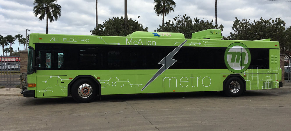 McAllen, TX, has been testing an electric bus that is being charged by a wireless system built by Wireless Advanced Vehicle Electrification. That system requires the bus to park over a charging pad. Stanford researchers are working on a wireless system that could charge a vehicle while it is in motion.