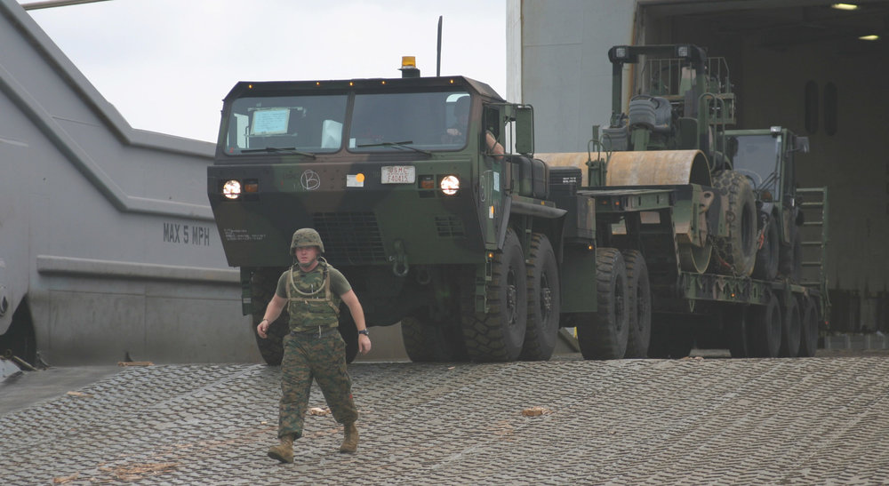 Marines logistic vehicle