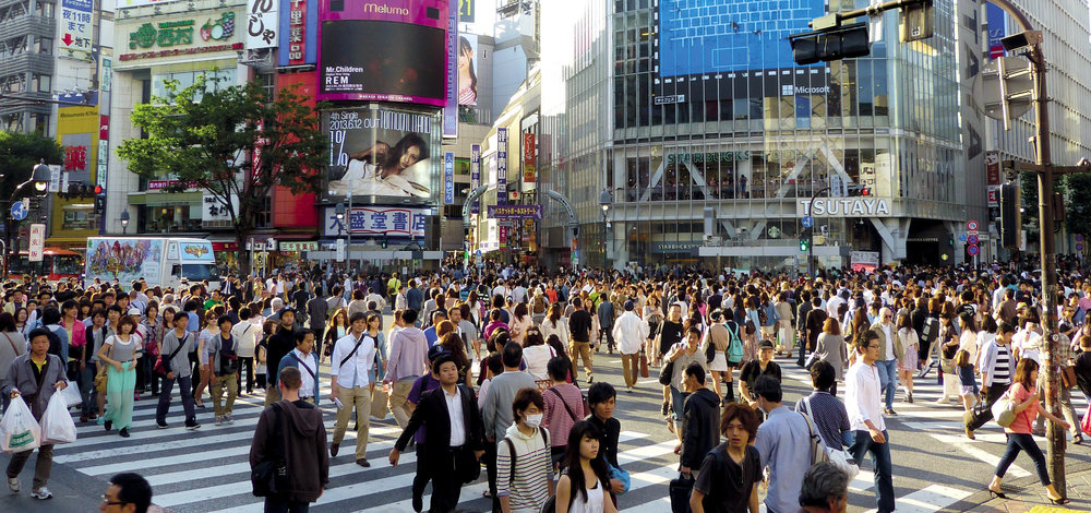 The amount of congestion - both vehicles and pedestrians - on Japan's city streets pose a challenge for autonomous vehicles, which is one reason the county's Society 5.0 blueprint calls for drone delivery service within 10 years.