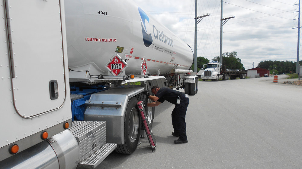 A vehicle inspection in progress in Ohio. ( Photo: Public Utilities Commission of Ohio )