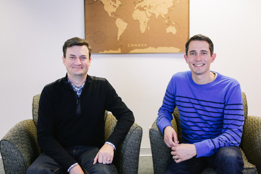 Convoy's founders Grant Goodale, CTO (left), and Dan Lewis, CEO.