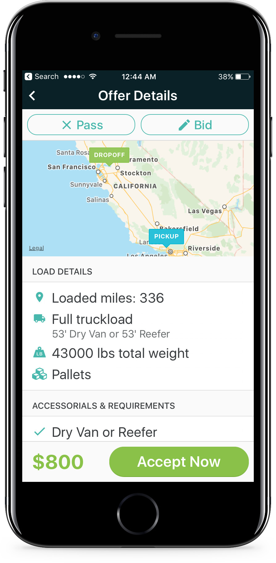 The Convoy app features all the details any trucker needs to ensure they are getting a quality-paying load and can deliver it successfully.