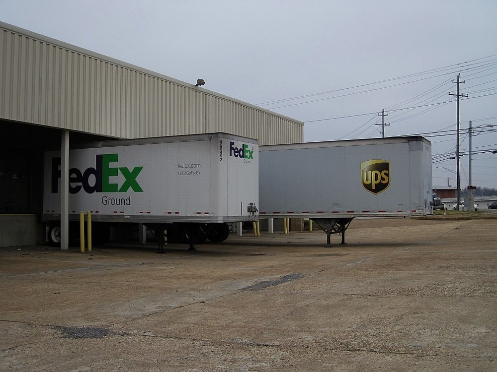 UPS and Fedex trailers