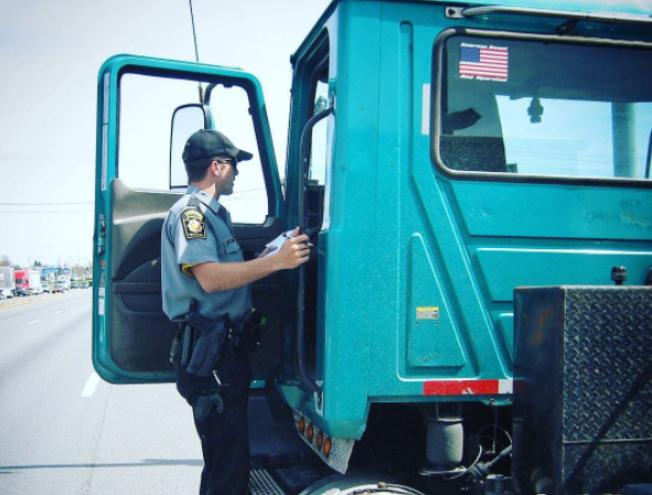 A Morgan Stanley survey of carriers found that 15% of respondents said they will not be fully compliant with the ELD rule on the Dec. 18 deadline.  (Photo: Pennsylvania State Police)
