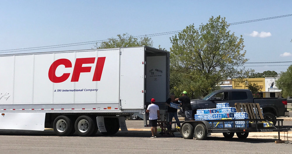 CFI partners with organizations to ensure necessary relief supplies are delivered to areas in need following natural disasters. (Photo: CFI)