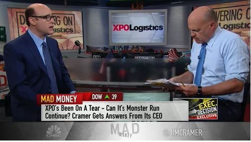 Brad Jacobs on CNBC's Mad Money sits down with Jim Cramer and talks about XPO and his views on how fast autonomous trucks will be on the streets