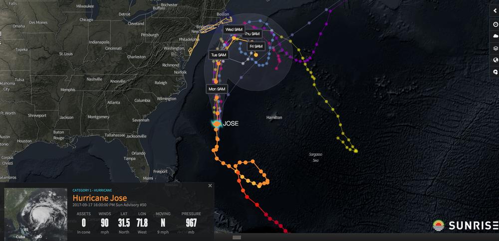 Image courtesy of Riskpulse- Hurricane Jose