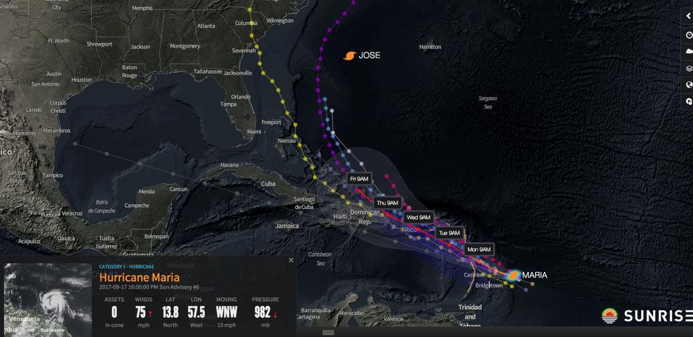 Image courtest of Riskpulse- Hurricane Maria