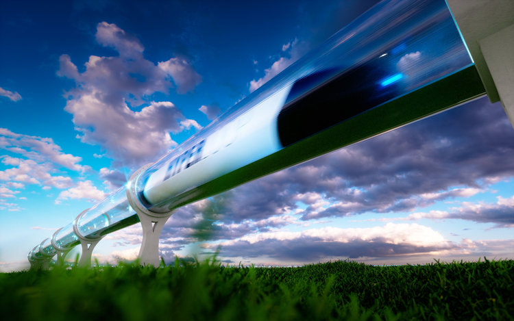 hyperloop involves the transporting of a pod at high rates of speed inside a