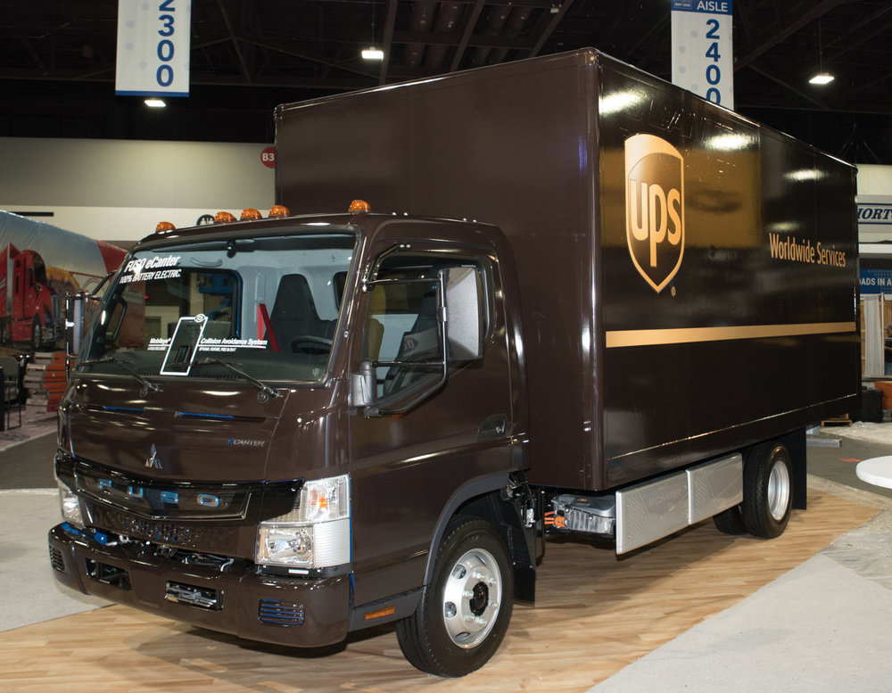 UPS has received one of the first eCanter electric trucks in the U.S.