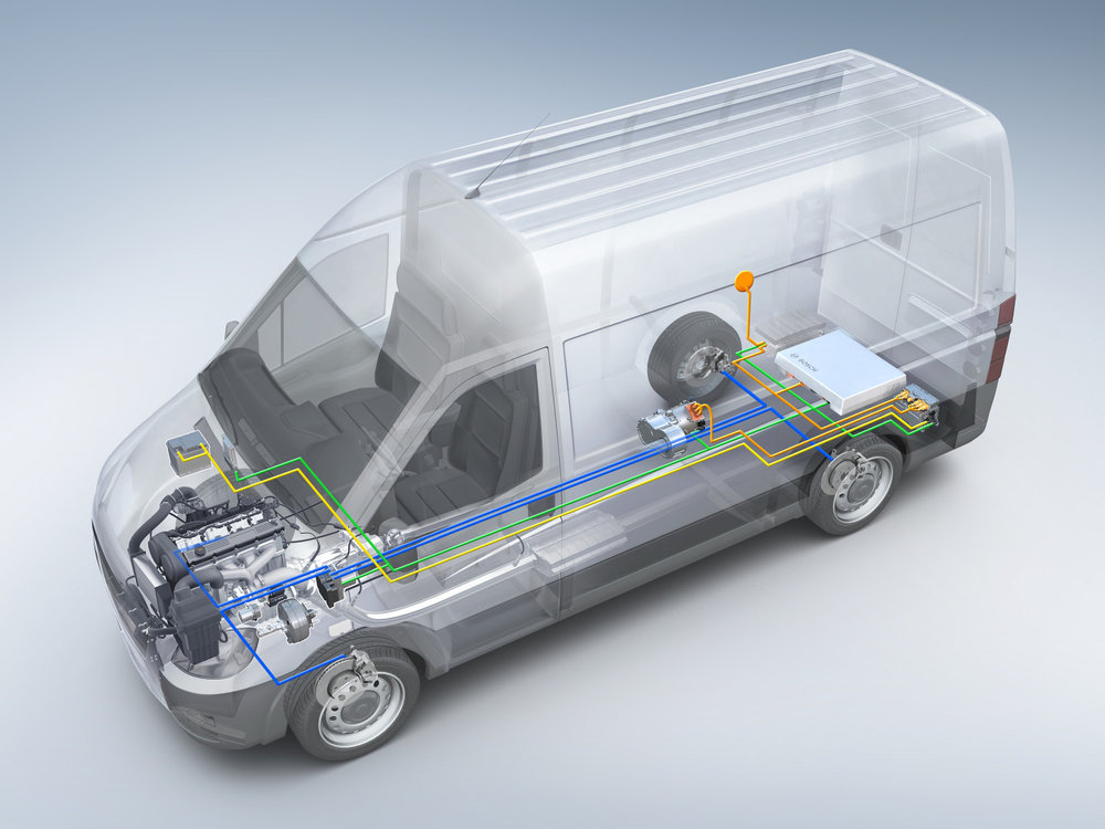 Bosch's eCity truck electrified powertrain.