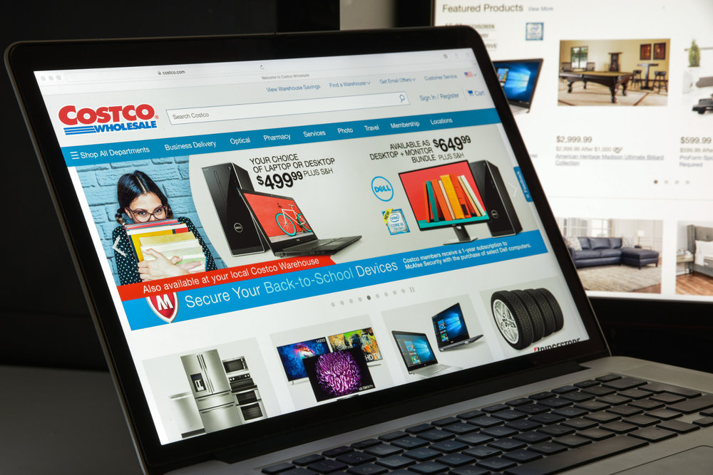 Costco is now offering certain food items with two-day delivery when ordered online and fresh food items for same-day delivery through its expanded partnership with Instacart. (Photo: Shutterstock)