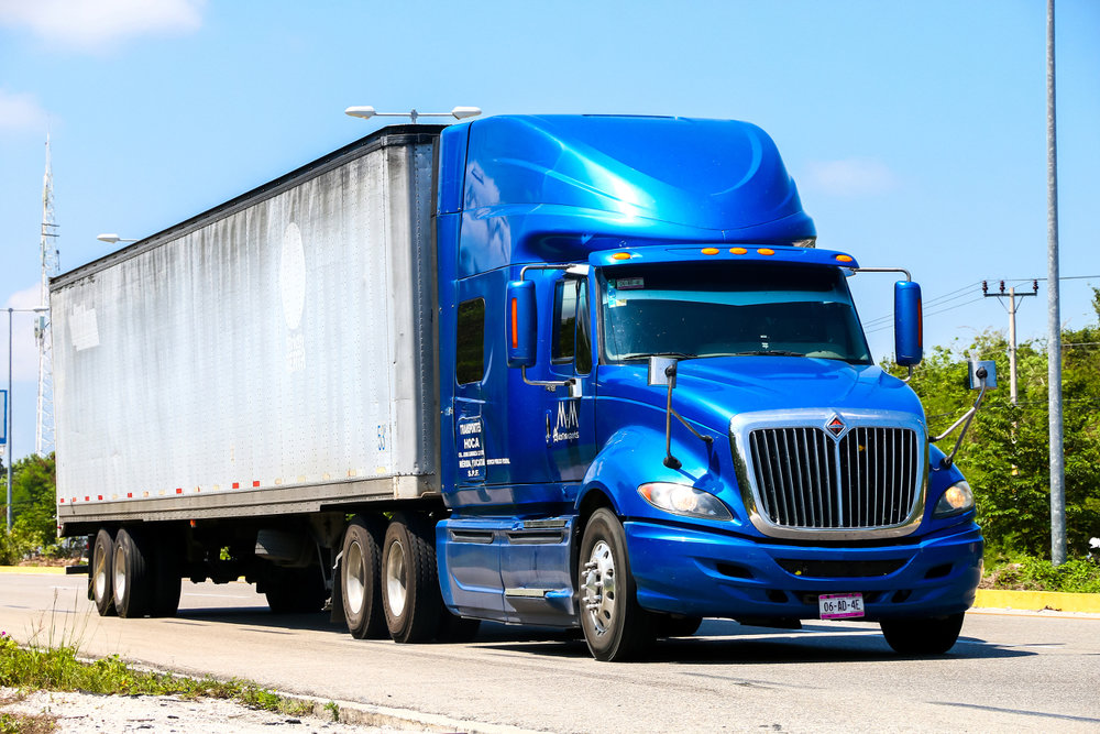 A truck drive down the interurban road in Quintana Roo, Mexico, earlier this year. (Photo: Shutterstock)