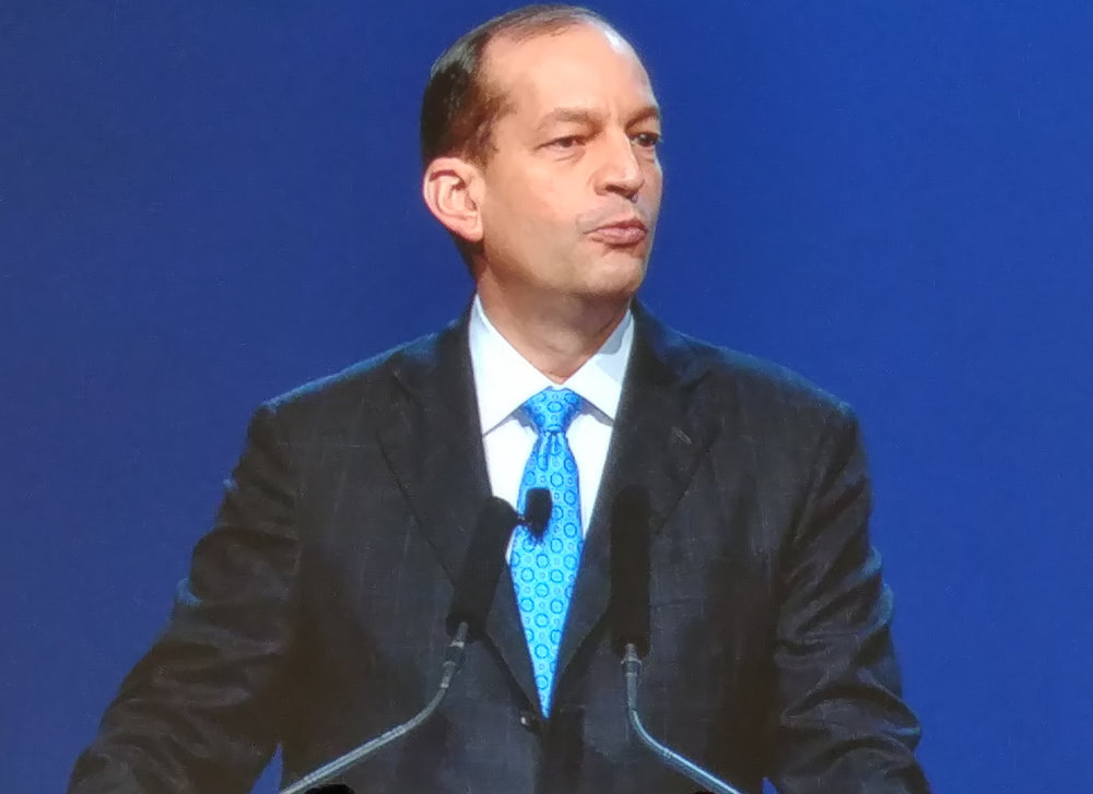 Labor Secretary Alex Acosta told ATA attendees how President Trump is looking to reduce barriers to make it easier for businesses to operate.