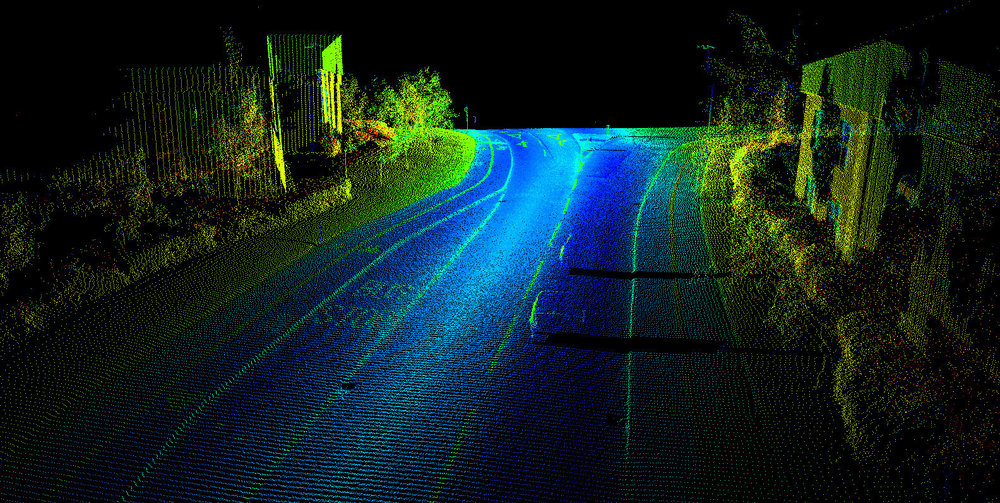 This is a LiDAR image created by Renishaw's Dynascan S250, which is a LiDAR system used by surveyors.