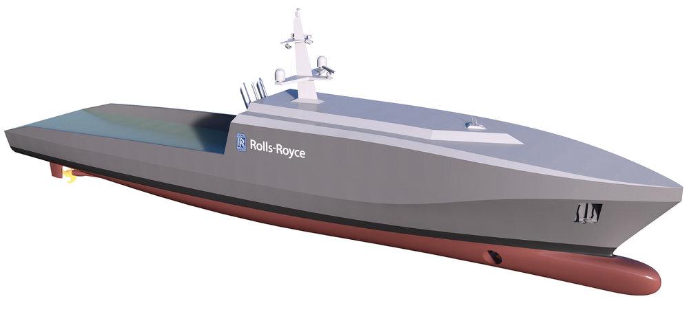 Rolls-Royce revealed its plans for a 60m autonomous naval vessel last month.